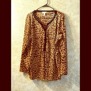 Charter Club Velour animal print 2X